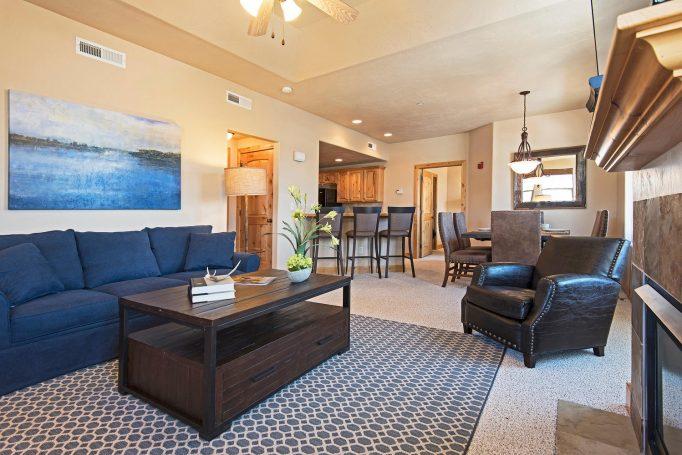 Redstone condo living room
