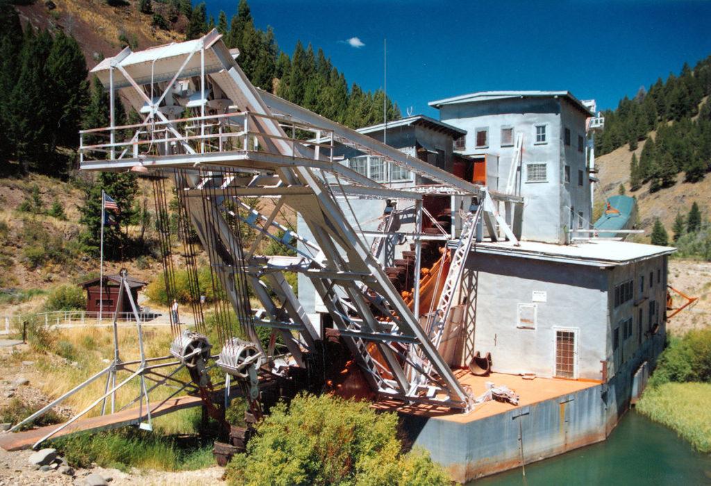 Yankee Fork gold dredge
