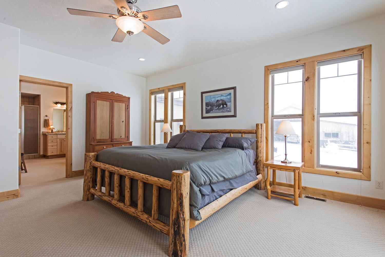 Timberline neighborhood cabin bedroom in Park City