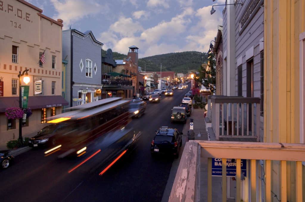 Main Street Park City at Sunset